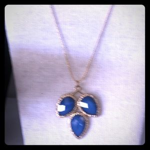 Jewelry - Blue earrings with gold trim